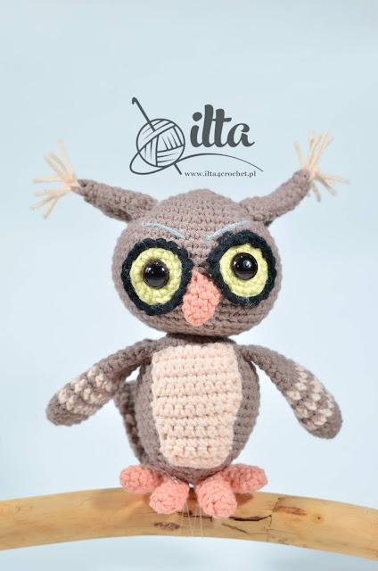 crochet owl pattern free sowa sówka szydełko amigurumi schemat wzór