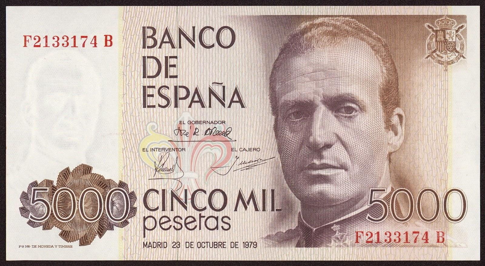 Spain Banknotes 5000 Pesetas banknote 1979 King Juan Carlos I