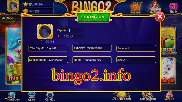 Thông tin đủ điều kiện nhận code BINGO2