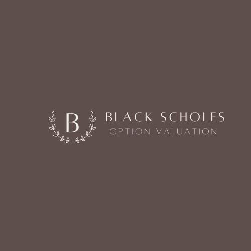 Black Scholes Option Valuation Python