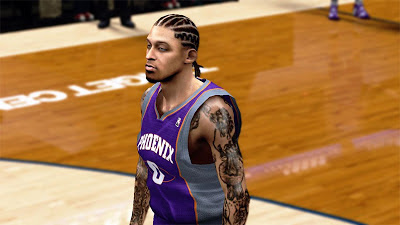 NBA 2K13 Michael Beasley New Hair and Tattoos