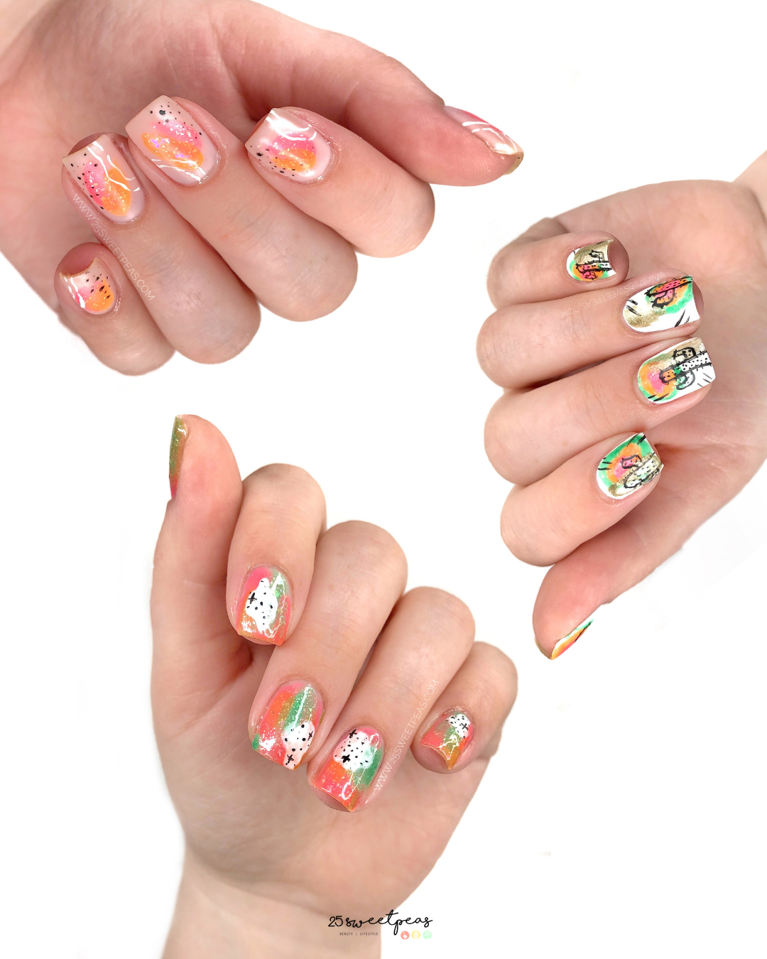 Easy Abstract Nail Art For Summer 25 Sweetpeas