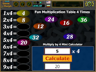 Multiplication Table 4 Times