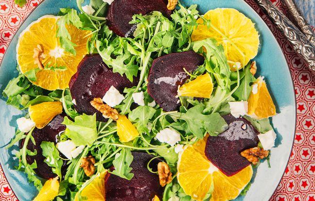 Oriental beet salad