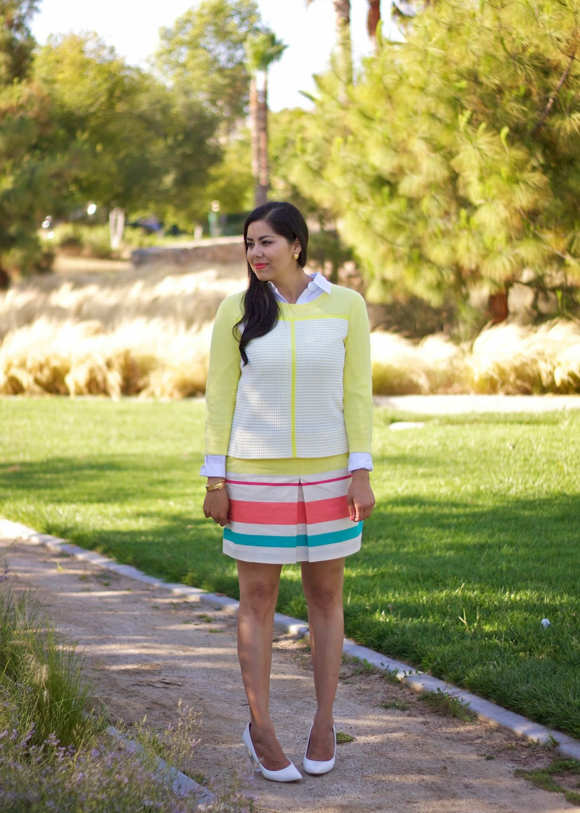 Tommy Hilfiger Yellow and Orange Preppy Look, Tommy HIlfiger fashion blogger, Tommy Hilfiger Fashion Valley