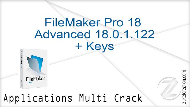 FileMaker Pro 18 Advanced 18.0.1.122 + Keys  |  575 MB