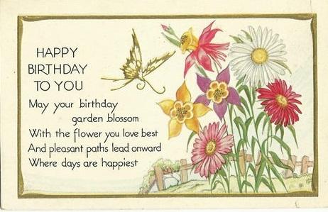 EARLY 20TH CENTURY BIRTHDAY CARD