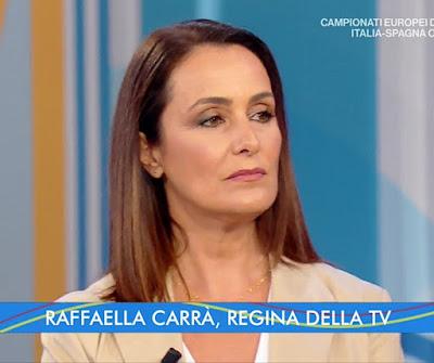 Roberta Capua viso triste rughe