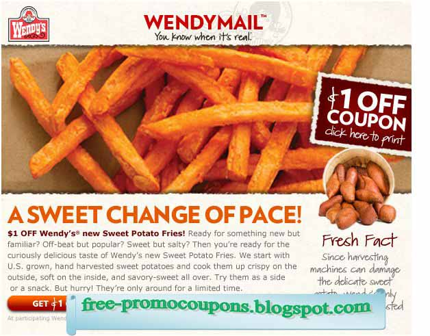 Wendy's coupons 2018