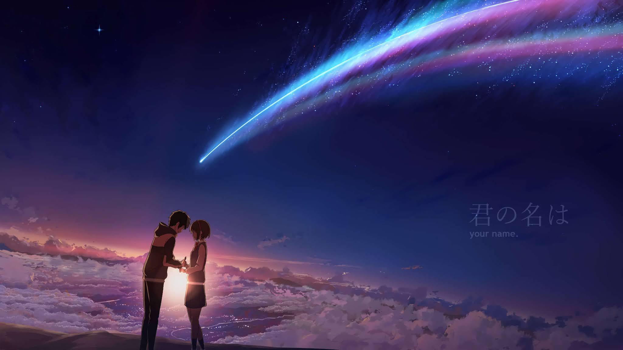 Anime romantis kimi no nawa desktop