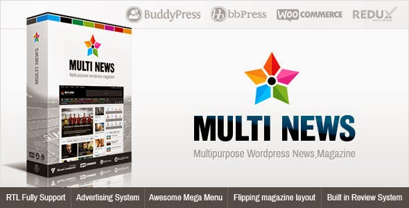 Multinews v1.5.3 Multi-purpose WordPress News,Magazine Theme