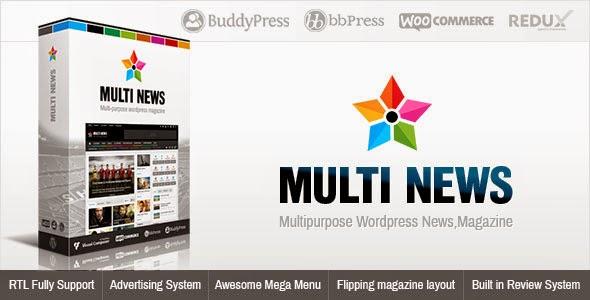 Multinews v1.5.3 Multi-purpose WordPress News,Magazine Theme