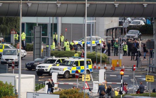 Bomb Scare in Manchester Airport, UK
