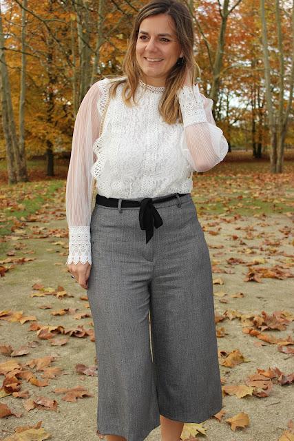 jupe-culotte naf naf, look du jour, escarpins argentés, les petites bulles de ma vie