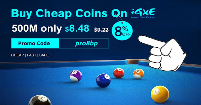 Sell coins 8 ball pool igxe.com