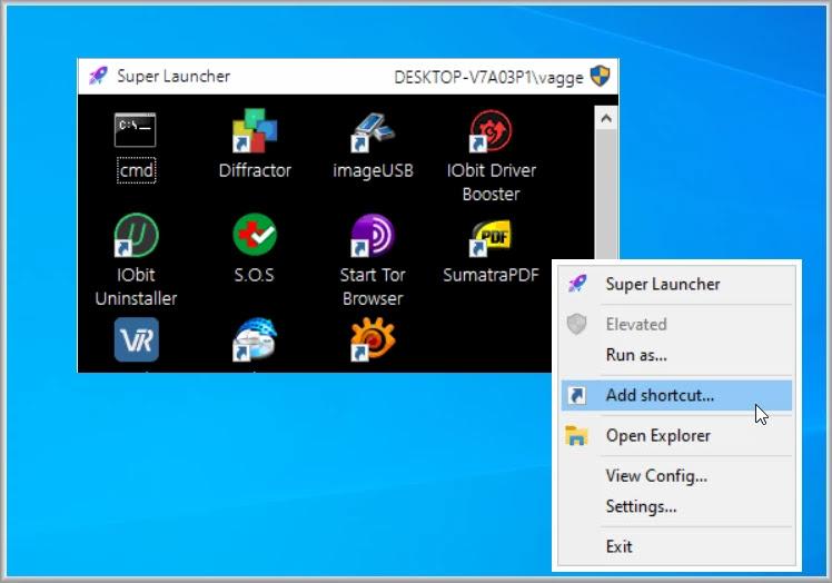 SuperLauncher :  Εκκινητής εφαρμογών για τα windows