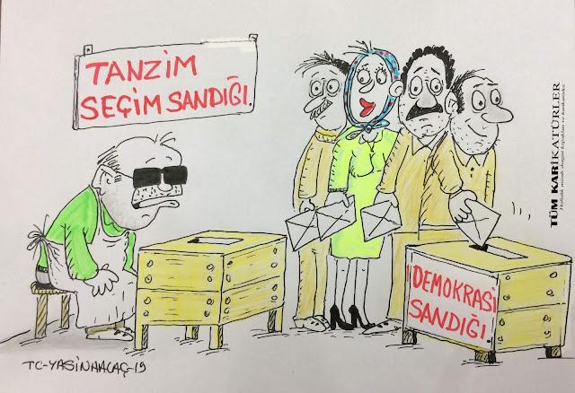 tanzim seçim sandığı karikatür