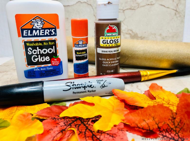 Thankful tree craft supplies