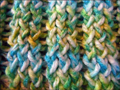 Knitting With Looms Finished Baby Boy Stroller Blanket
