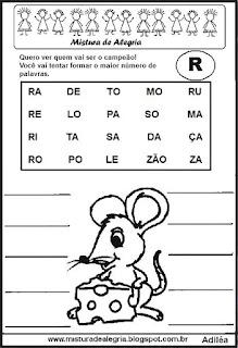 Formar palavras com a letra r