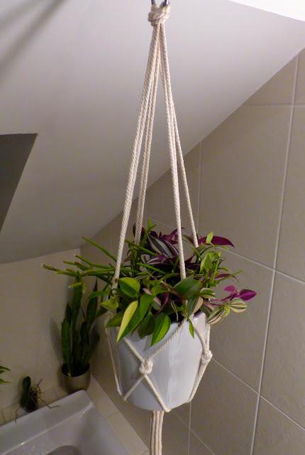 Une semaine  ParisFort Bricoler  une suspension en macram dans la salle de bain