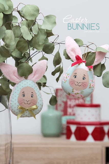 Easy to make Easter eggs with bunny ears
