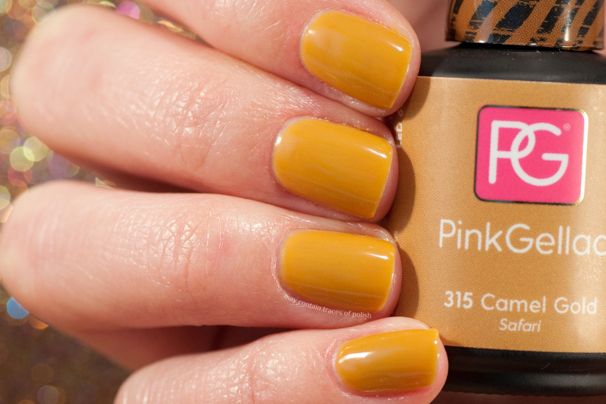 Pink Gellac Safari Collection Swatches - 315 Camel Gold