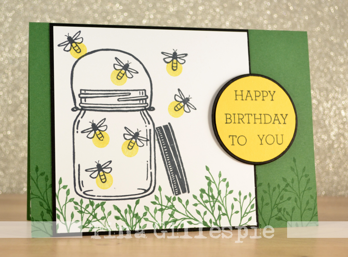 Scissors Paper Card Catching Fireflies With Jar Of Love