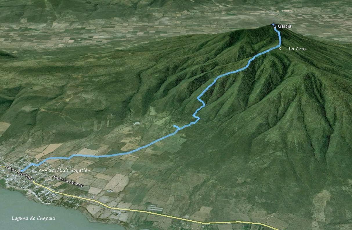 Ruta de ascenso al Cerro García - Septiembre 2014