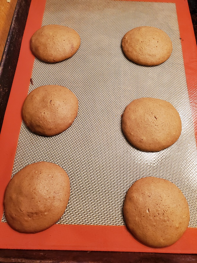 this is the finished cookie cooling called molasses cookies or wine drops