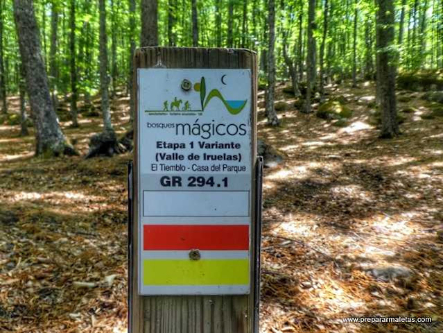 señales ruta bosques mágicos Ávila