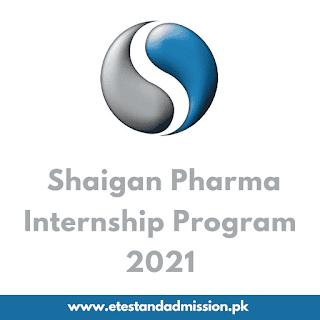 Shaigan Pharma Internship Program 2021