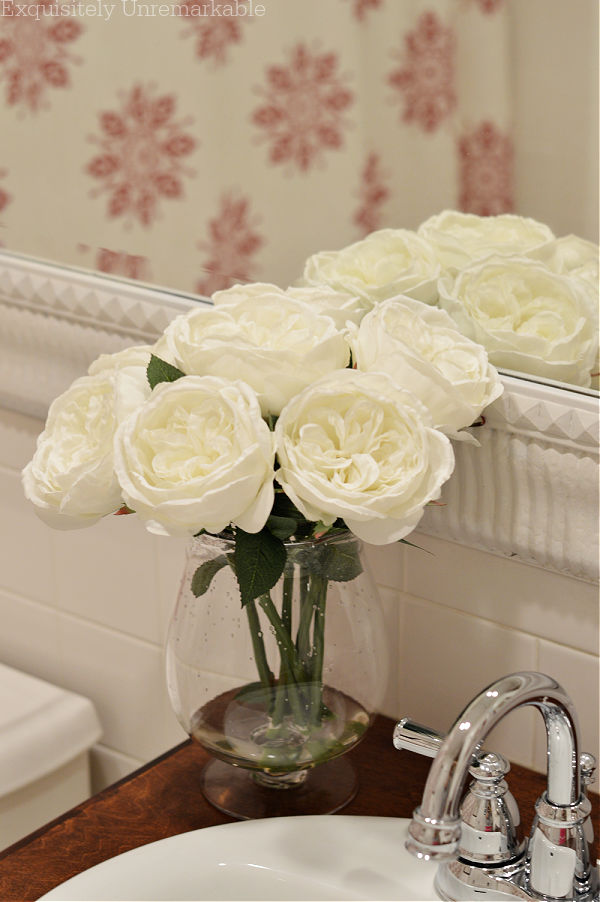 White Roses In The Bathroom