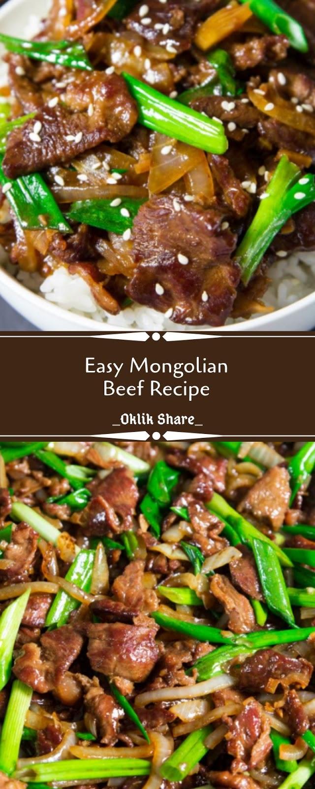 Easy Mongolian Beef Recipe - Oklik Share