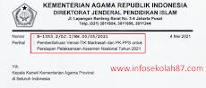 Pemberitahuan Verval TIK Madrasah dan PK-PPS untuk Persiapan Pelaksanaan Asesmen Nasional Tahun 2021