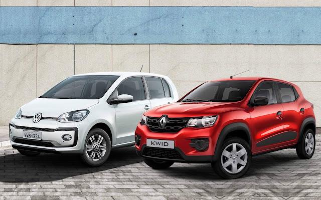 Renault Kwid x Up! x Mobi x QQ - comparativo de consumo