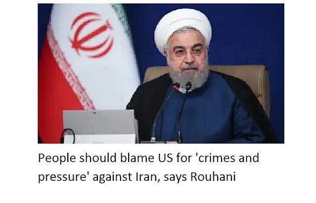 """Njerëzit duhet të fajësojnë SHBA për """"krimet dhe presionin"""" kundër Iranit, thotë Rouhani"""