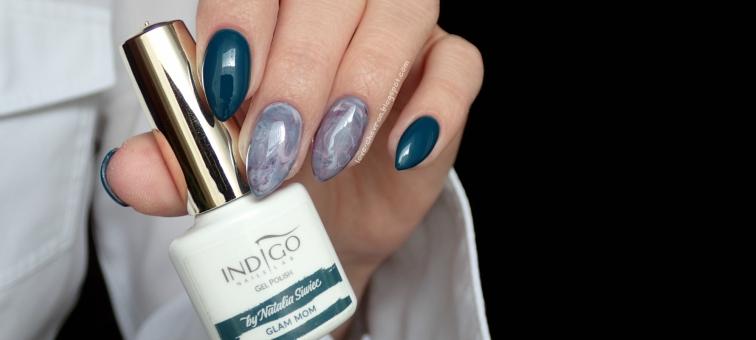 Indigo Glam Mom    Mama Style by Natalia Siwiec    Cosmetics Zone   234 Ocean Khaki   025 Overripe Eggplant   PST2 Bright Lilac   marble nails   stone effect nails   marmurkowe paznokcie  