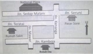 ilustrasi denah peta