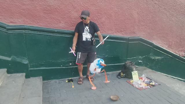 Street entertainment in Barranco, Lima Peru