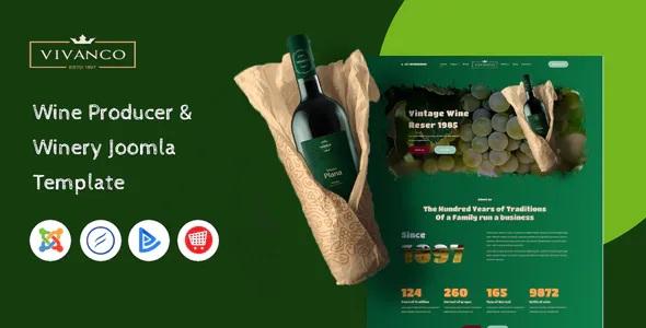 Best Vineyard & Winery Shop Joomla Template