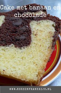 Zelf cake maken zonder pakje: met banaan en chocolade