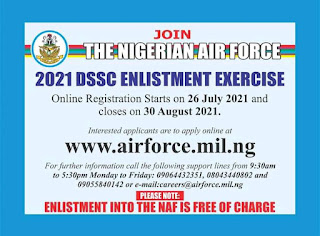 How to apply for Nigerian Air force 2021