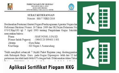 Aplikasi sertifikat kkg terbaru