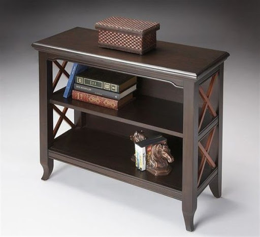 bookcases cherry wood