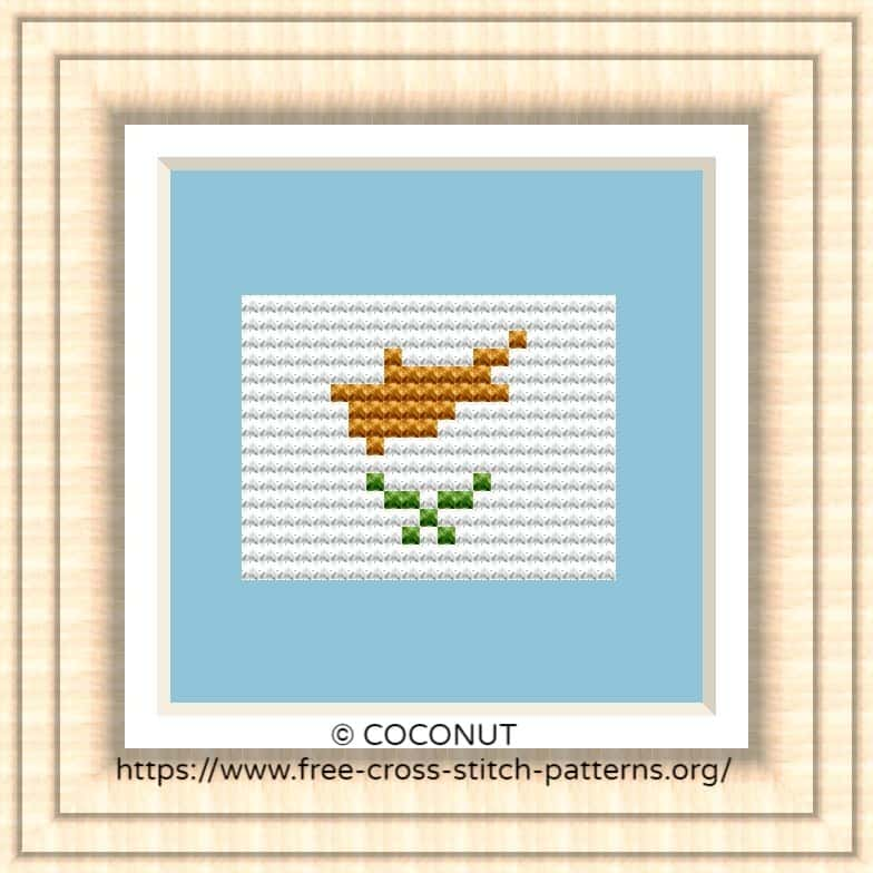 NATIONAL FLAG OF CYPRUS CROSS STITCH CHART