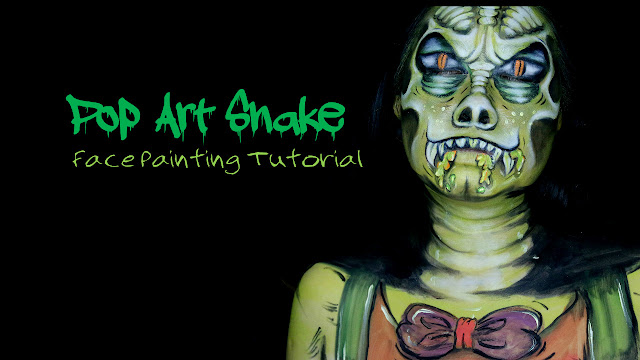 Tutorial-Pop-Art Snake-Face-Painting