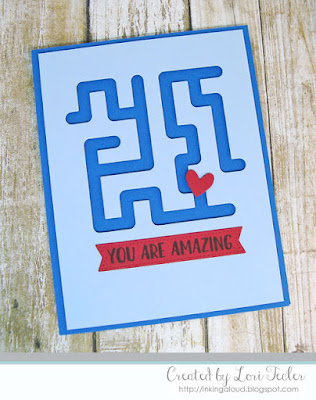 You Are Amazing card-designed by Lori Tecler/Inking Aloud-stamps and dies from Neat & Tangled