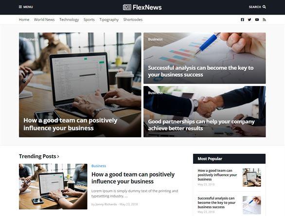 FlexNews Blogger Template For News Website