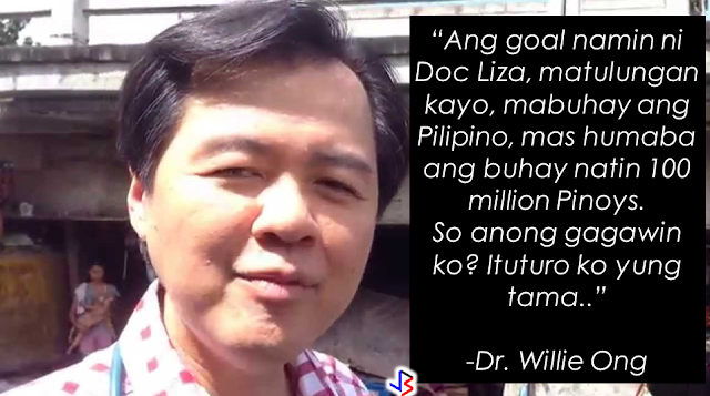 "Dr. Willie Ong together with  his wife Dr. Liza Ong made a Facebook live of important health tips about rabies and fatty liver.  Dr. Ong has been doing health tips that are very useful in our everyday life from simple common diseases to more complex health issues, providing education and knowledge on how to deal with them for everyone.    In the first video, Dra Liza Ong discussed about rabies. What to do if you got bitten or scratched by animals suspected to carry rabies virus?   According to Dr Liza Ong, rabies has an incubation period of 90 days from the first day of  the bite. It will be the critical period where we need to observe the patient.    ""In the Philippines, common animals that carry rabies virus are dogs and cats,"" Dr. Liza said. Bats can also carry rabies. Animals can have rabies from being infected from contacts with other animals that carry the virus.    What do you need to do when you got bitten by a rabid animal?  1. Wash the affected part with soap and water. The lipids on the surface of the rabies virus  can be killed by soaps in contact.    2. Apply antiseptics like alcohol or povidone iodine.   3. Do not cover or suture the wound.     4. Do not put any cream, garlic, turmeric powder, coffee, toothpaste or any self medication.    5. Go to the nearest Animal Bite Center immediately for anti-rabies vaccination.           The second segment of the video talks about fatty liver, its causes and preventions. Dr. Willie Ong tackles about the risk of having a  fatty liver.      Fatty liver is not really a thing to ignore. It can be fatal and is considered the number one cause of liver transplant which , in the Philippines, can cost you P4,000,000 to P5,000,000, according to Dr. Ong.   The chart shows the stages of liver damage as shown by Dr. Willy Ong   Dr. Ong warns people about fatty foods, alcoholic beverages and even taking medicines in tablet form. It can be a cause of having unhealthy or fatty or it can possibly damage the liver       SYMPTOMS OF LIVER CIRRHOSIS  To avoid liver cirrhosis, you need to do the following:  1.Avoid fatty foods.   2.Avoid alcoholic drinks.   3.Avoid too much salt.   4.Eat more fruits and vegetables.   5. Engage in regular exercise like jogging, biking, etc.       Dr. Willie Ong and his wife are providing right and useful health tips for the 10 million Filipinos  to live well and to live longer.      For more health tips, you can visit their Facebook page.            RECOMMENDED:  ASEAN LEADERS TO CREATE PROTECTION RULES FOR MIGRANT WORKERS  OFW GETS HARSH WORDS FROM OWN BROTHER  10 TIPS ON HOW TO SPOT A FAKE NEWS  BEFORE YOU GET MARRIED,BE AWARE OF THIS  ISRAEL TO HIRE HUNDREDS OF FILIPINOS FOR HOTEL JOBS  MALLS WITH OSSCO AND OTHER GOVERNMENT SERVICES  DOMESTIC ABUSE EXPOSED ON SOCIAL MEDIA  HSW IN KUWAIT: NO SALARY FOR 9 YEARS  DEATH COMPENSATION FOR SAUDI EXPATS  ON JAKATIA PAWA'S EXECUTION: ""WE DID EVERYTHING.."" -DFA  BELLO ASSURES DECISION ON MORATORIUM MAY COME OUT ANYTIME SOON  SEN. JOEL VILLANUEVA  SUPPORTS DEPLOYMENT BAN ON HSWS IN KUWAIT  AT LEAST 71 OFWS ON DEATH ROW ABROAD  DEPLOYMENT MORATORIUM, NOW! -OFW GROUPS  BE CAREFUL HOW YOU TREAT YOUR HSWS  PRESIDENT DUTERTE WILL VISIT UAE AND KSA, HERE'S WHY  MANPOWER AGENCIES AND RECRUITMENT COMPANIES TO BE HIT DIRECTLY BY HSW DEPLOYMENT MORATORIUM IN KUWAIT  UAE TO START IMPLEMENTING 5%VAT STARTING 2018  REMEMBER THIS 7 THINGS IF YOU ARE APPLYING FOR HOUSEKEEPING JOB IN JAPAN  KENYA , THE LEAST TOXIC COUNTRY IN THE WORLD; SAUDI ARABIA, MOST TOXIC  ""JUNIOR CITIZEN ""  BILL TO BENEFIT POOR FAMILIES ©2017 THOUGHTSKOTO"